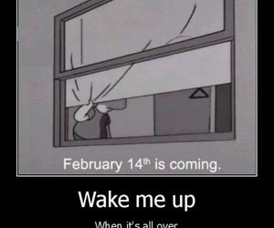 simpsons, valentine, and wake me up image