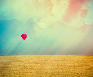 balloons, sky, and field image