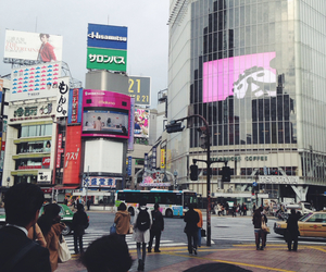 city, japan, and shibuya image