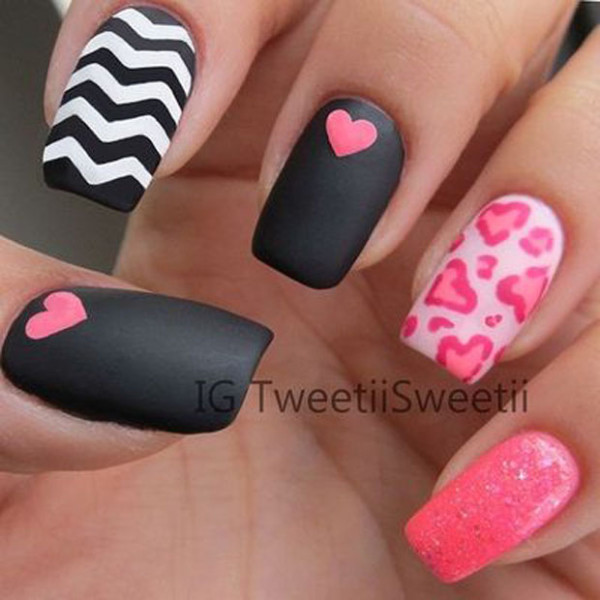 Love Nail Arts For Valentine\'s Day - Ferbena.com - Ferbena.com