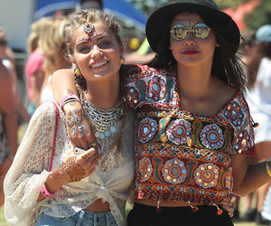girl, hippie, and friends image