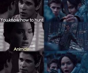gale, katniss, and the hunger games image