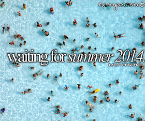 summer, 2014, and pool image