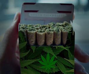 marijuana, smoke, and weed image