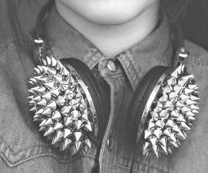 girl, music, and headphones image