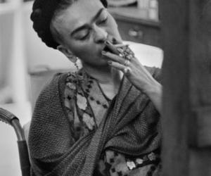 frida kahlo, cigarette, and photography image