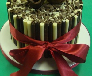 cake, chocolate cake, and cigarillo cake image