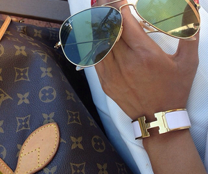Louis Vuitton, sunglasses, and hermes image