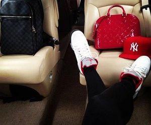 bag, jordan, and red image
