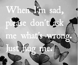 alone, butterflies, and depressed image