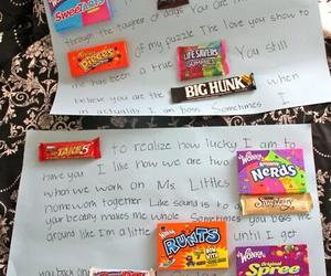 candy, Letter, and sweet image