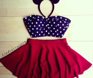 fashion, outfit, and minnie image