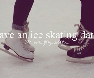 date, him, and ice skate image