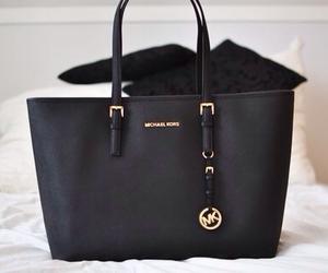 black, handbag, and style image
