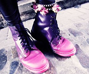 boots, dark, and pastel image