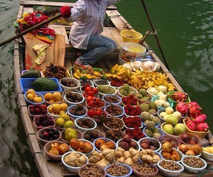 boat, fruit, and food image