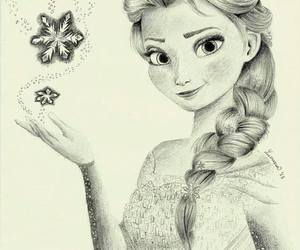 drawing, frozen, and girl image