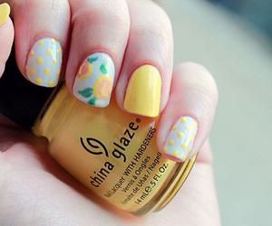 nails, nail polish, and yellow image