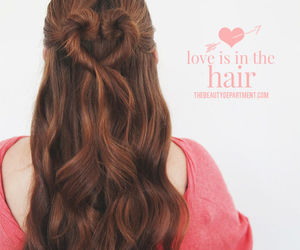 hair, heart, and love image