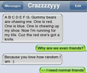 crazy, gummy bears, and funny image
