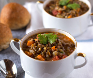 soup and lentil image
