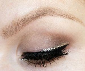 black, silver liner, and eye image