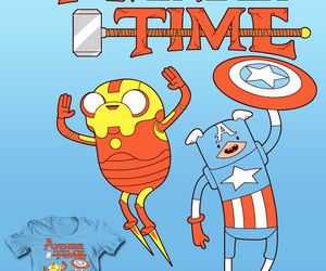 Avengers and adventure time image