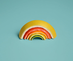 rainbow and fruit image