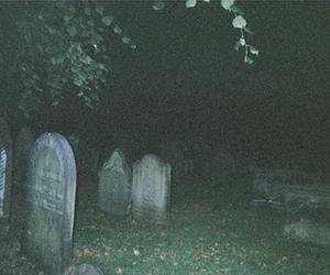 grunge, dark, and cemetery image