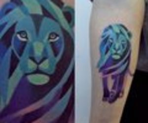 tattoo, cool, and color image