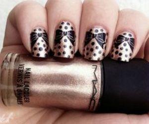 nails, black, and brown image