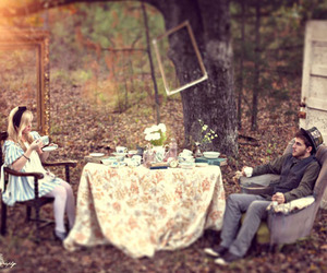 alice, alice in wonderland, and tea party image