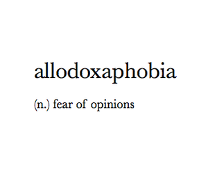 fear and opinion image