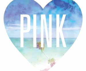 pink, beach, and wallpaper image
