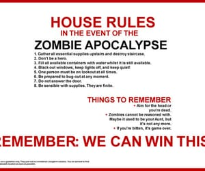 instructions and zombie image
