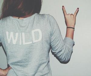 wild, girl, and rock image