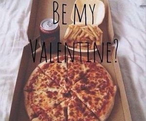 pizza, valentine, and food image
