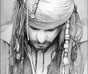 art, drawing, and pirates of the caribbean image