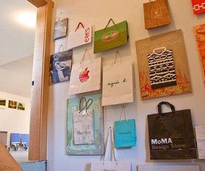 diy, shopping bags, and wall art image