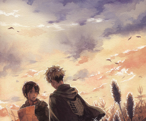 jean, eren jaeger, and attack on titan image