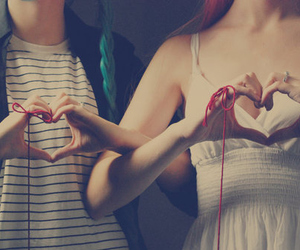 love, heart, and friends image