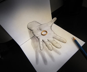 drawing, gold, and effect image