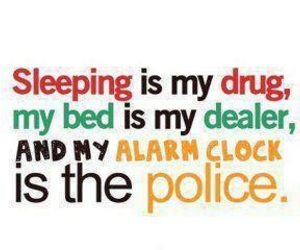 drugs, police, and sleep image