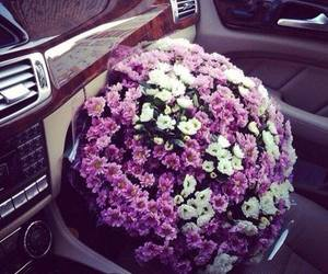 flowers, car, and gift image