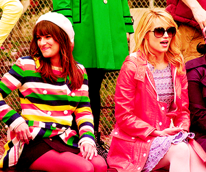 glee, Quinn, and rachel berry image