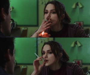 smoke, cigarette, and keira knightley image