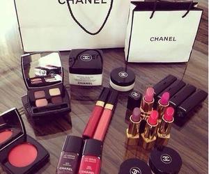 chanel, gloss, and eye shadows image