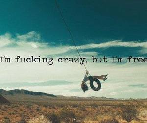 crazy, free, and life image