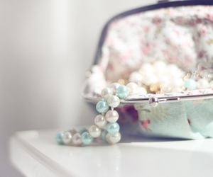 pearls, purse, and necklace image