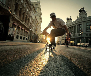 skate, boy, and street image